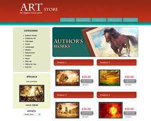 Art E-Commerce Template