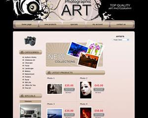 Photographic Art E-Commerce Template
