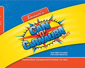 Bouncer's Can 'o' Carnauba Car Wax Label