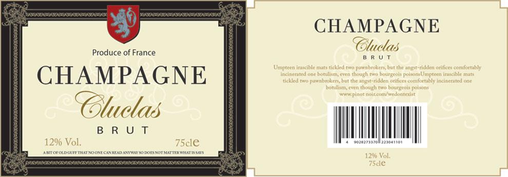 Champagne-Label