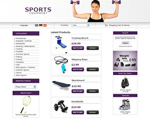 Sports Equipment E-Commerce Template