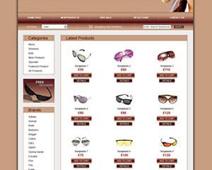 Sunglasses E-Commerce Template