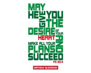 Typographic Religious Birthday Greeting Cards