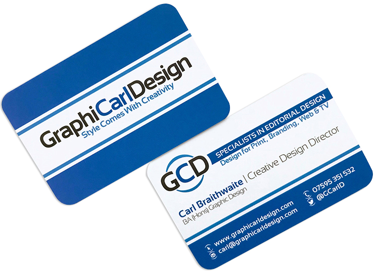 GraphiCarlDesign – Style Comes With Creativity – Business Cards (Back & Front)