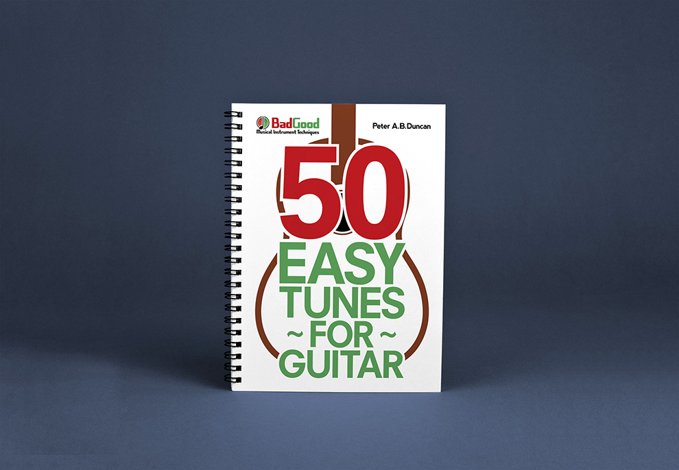 50 Easy Tunes for Guitar Spiral Book Mockup