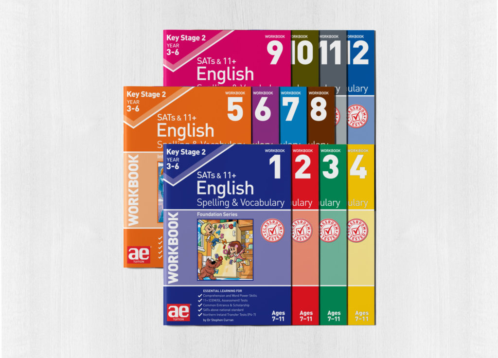 Spelling and vocabulary full bundle - new workbook cover designs