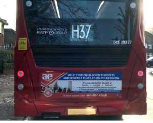 AE Tuition Bus Advert